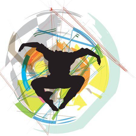 Dancing illustration Vector