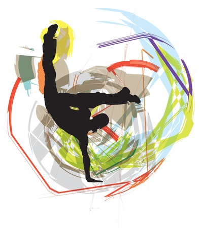 acrobatic: Dancing illustration Illustration
