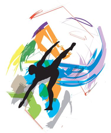 Dancing illustration Stock Vector - 10969267