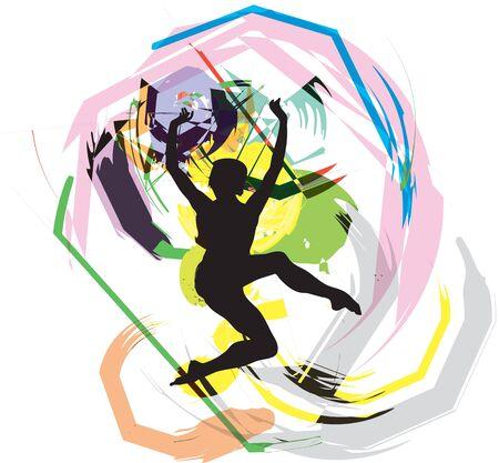 Dancing illustration Stock Vector - 10969372