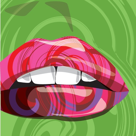 mouth illustration Vector