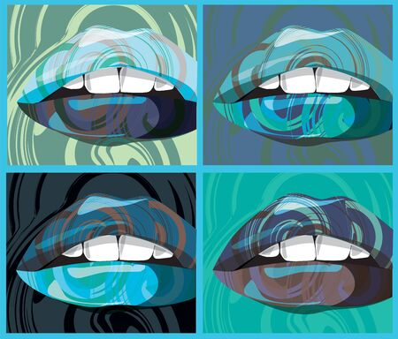 sexual abstract: mouth illustration