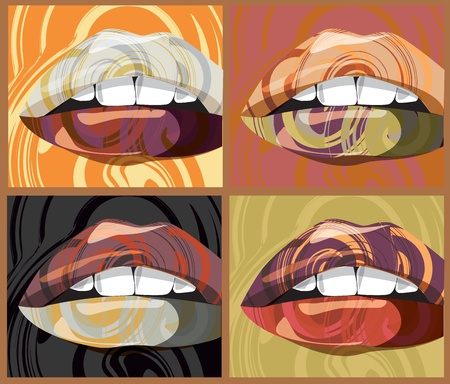 sexual health: mouth illustration