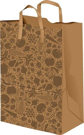 paperbag: Paper bag illustration