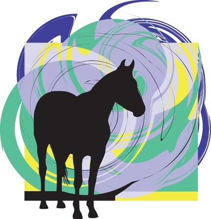 trotting: Horse vector illustration Illustration