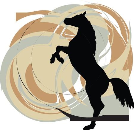 gallop: Horse vector illustration Illustration