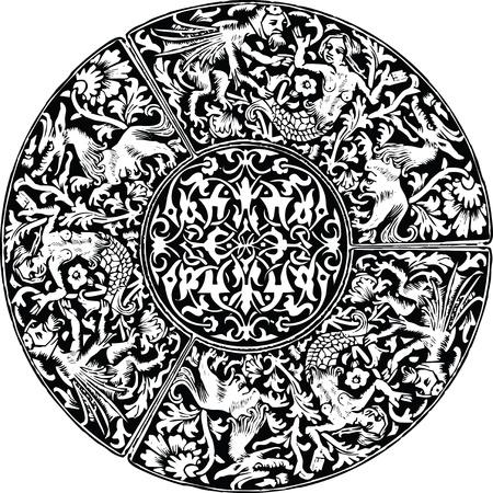 Renaissance naadloze patroon