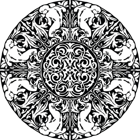 inquisition: Renaissance seamless pattern