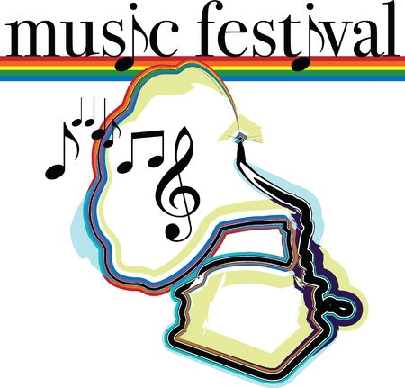 Music festival illustration Vector