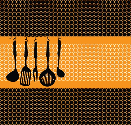 daily use item: Rack of kitchen utensils