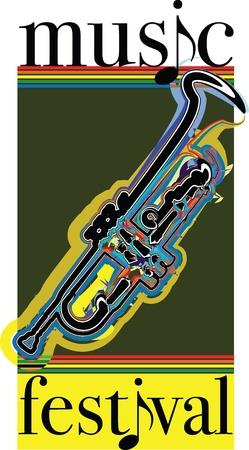 Music festival illustration Vector