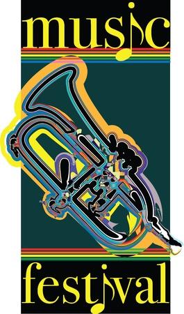 Music festival illustration Stock Vector - 10969329