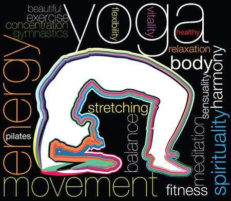 Yoga illustration Stock Vector - 10969207