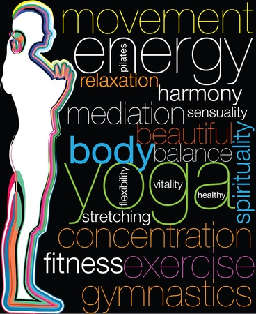 Yoga illustration Stock Vector - 10969151