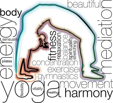Yoga illustration Stock Vector - 10969234