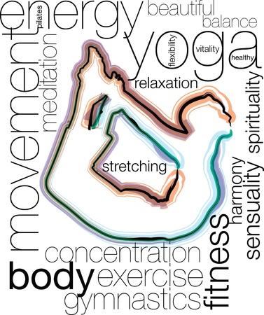 Yoga illustration Stock Vector - 10969187
