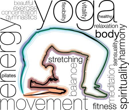 Yoga illustration Stock Vector - 10969199