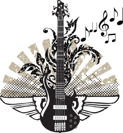 guitarra clásica: Dise�o de la guitarra el�ctrica