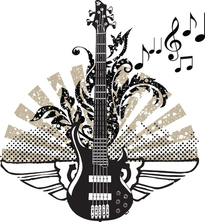Electric Guitar design Stock Vector - 10969268