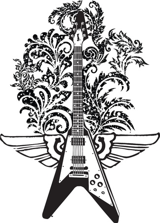 heavy metal: Electric Guitar design