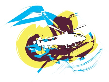 Helicopter. Vector illustration Vector