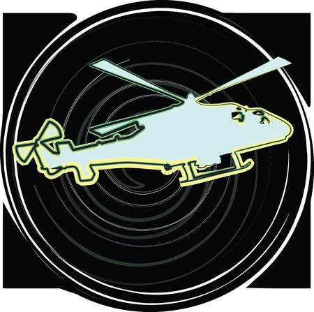 Helicopter. Vector illustration Stock Vector - 10969065