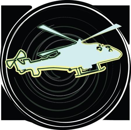 Helicopter. Vector illustration Illustration