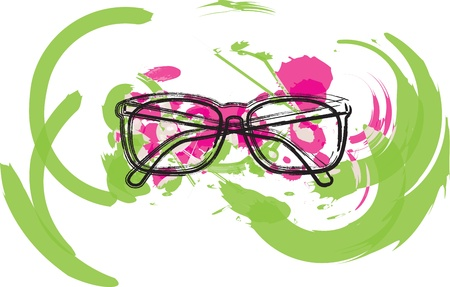 shortsighted: Eyeglasses illustration Illustration