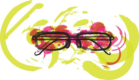 ocular: Eyeglasses illustration Illustration