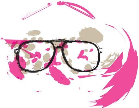 eyewear: Eyeglasses illustration Illustration