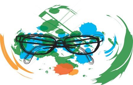 miopia: Occhiali da vista illustrazione Vettoriali