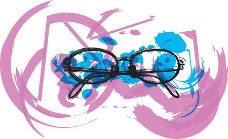 Eyeglasses illustration Stock Vector - 10969393
