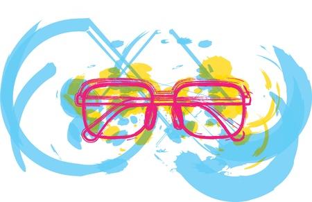 Eyeglasses illustration Stock Vector - 10969392