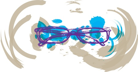 nearsighted: Eyeglasses illustration Illustration