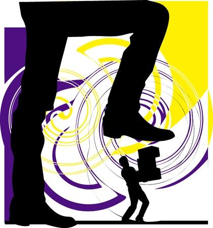 dominate: Man power. vector illustration Illustration