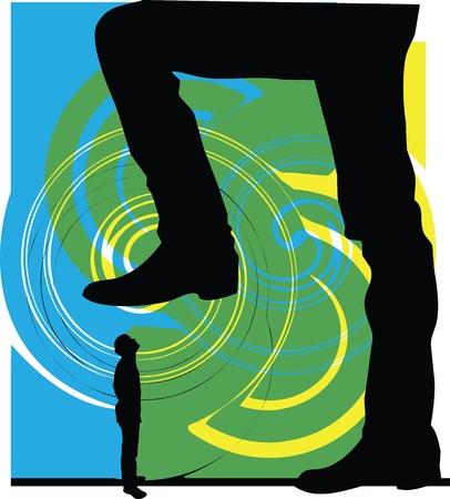Man power. vector illustration Vector
