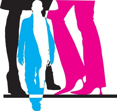 Women power. Vector illustration Stock Vector - 10968937