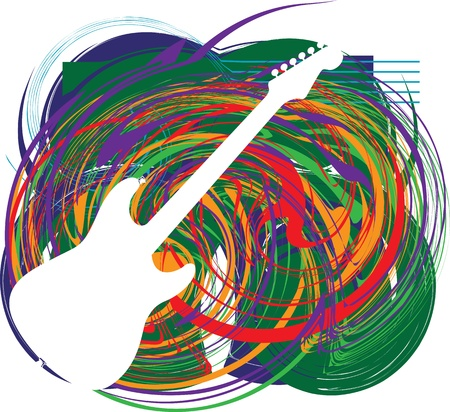 soul music: Abstract guitar illustration