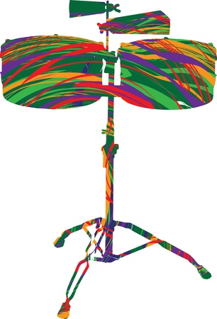 Abstract drum illustration Stock Vector - 10968950