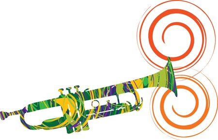 trombones: Abstract trumpet illustration