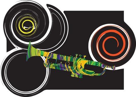 Abstract trumpet illustration