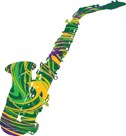 amplify: Abstract saxophone illustration Illustration