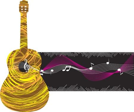 Abstract guitar illustration Vector