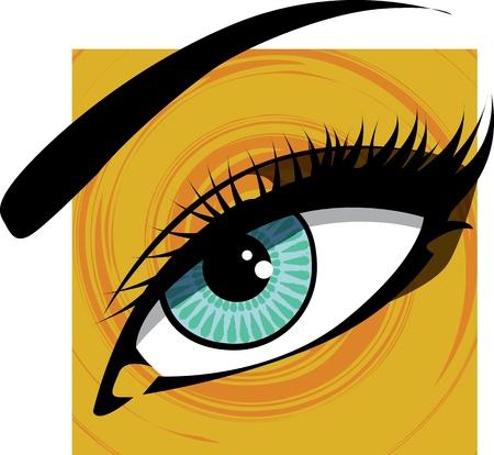 Woman eye illustration Stock Vector - 10968930