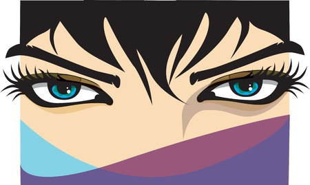 Woman eye illustration Vector