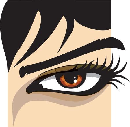 Woman eye illustration Vector