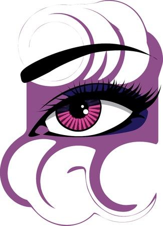 Woman eye illustration Stock Vector - 10969057