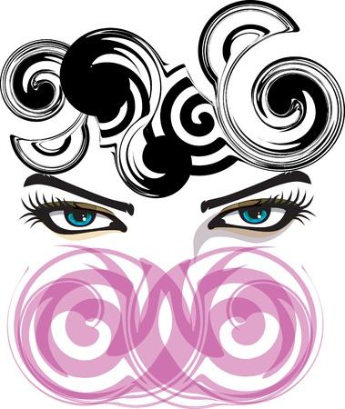 Woman eye illustration Stock Vector - 10969063