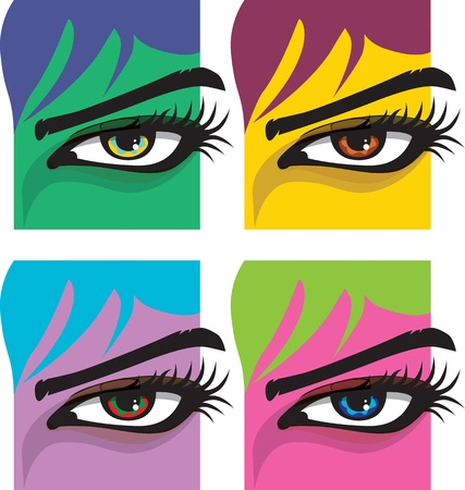 Woman eye illustration Stock Vector - 10969040