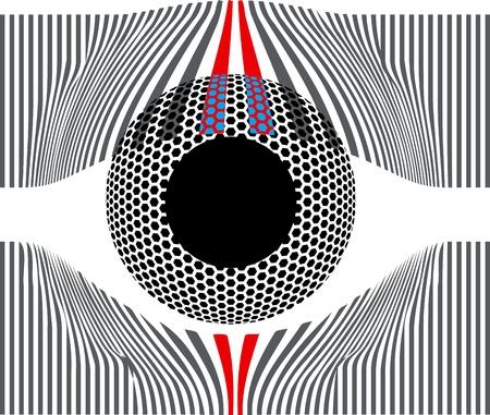 Look at my eyes. Vector illustration Vector